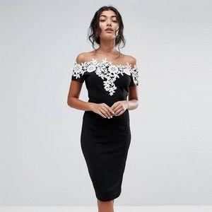 Paper Dolls- black pencil mini dress- NWT